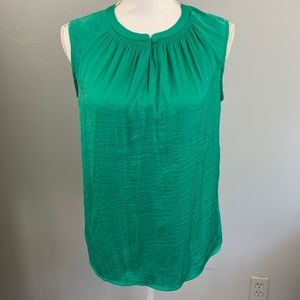 Banana republic green satin high neck tank